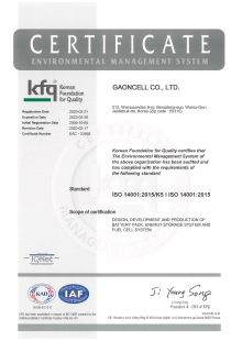 ISO 14001 Certificate of Environment Management System